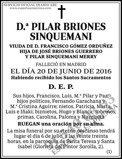 Pilar Briones Sinquemani